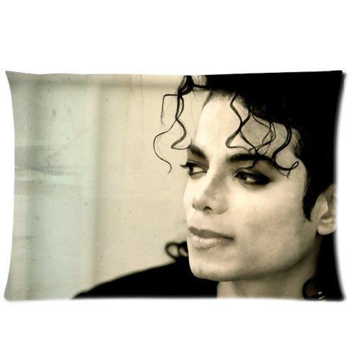 Warmhome Michael Jackson Home Dekorativer weicher Überwurf-Kissenbezug, Kissenbezug, mit Reißverschluss, Standardgröße, 50,8 x 76,2 cm, beidseitig Bedruckt (Jackson Michael Reißverschluss)