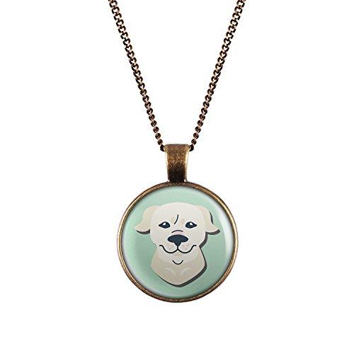 Mylery Halskette mit Motiv Hund Golden Retriever bronze 28mm