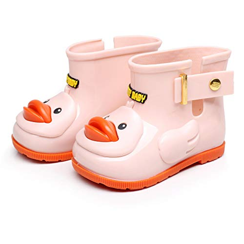 SUGLORY Infant Toddler Wellies Children Rain Boots Cartoon Duck Animals Antiskid Waterproof Rubber Rain Shoes Galoshes for Kids Boys Girls