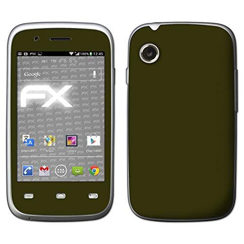 atFolix Skin kompatibel mit Wiko Ozzy, Designfolie Sticker (FX-Soft-Olive), Matte Oberfläche