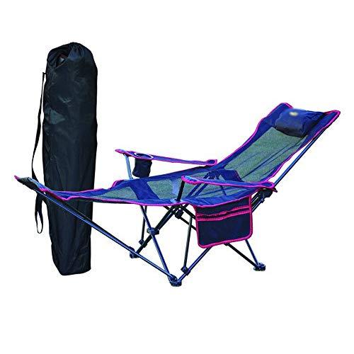 Blaue Strand-klapp-stühle (MLX Tragbare Klappstuhl Zurück Angeln Stuhl, Outdoor Camping Klapp Liege Freizeit Hocker Siesta Bett Stuhl Strand Stuhl (Farbe : Blau))