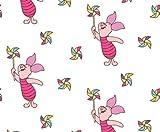 Winnie Puuh Stoff, 0,5 Meter (50 x 110 cm), Stoff fürs Kinderzimmer, 100 % Baumwolle VISF06 Piglet