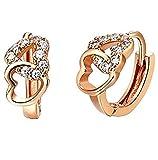 findout rosé vergoldet / Sterling Silber Cubic Zircons Goldfisch Ohrringe. Geschenk für Frauen Mädchen (F617) (Bogen)