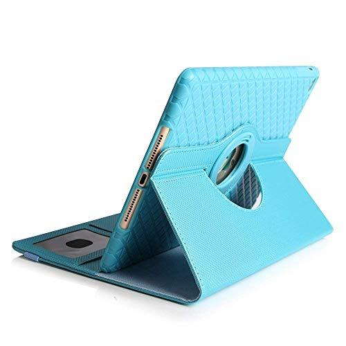 TechCode  9,7 Zoll iPad Mini 4 Hülle, Smart PU Leder Schutz Hülle 360 Grad Schwenkbar drehbar für Apple iPad Mini 4 7.9'' Smart Auto Sleep/Wake Feature (iPad Mini 4, Himmelblau) -