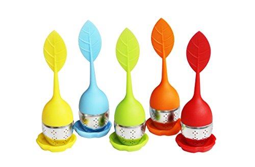 Fanaticism Silikon Teeei 5 Stück Set mit blau, rot, orange, gelb und grün