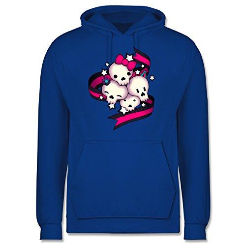 Statement Shirts - Cute Skulls - Männer Premium Kapuzenpullover / Hoodie Royalblau