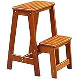 Tabouret de chaise pliante confortable à l'extérie Tabouret portable / tabouret haut / tabouret à usage double escabeau / chaise pliante / tabouret en bois massif / préscolaire enfants tabouret (55 * 38,5 * 48 cm) QLM-Folding chair and stool