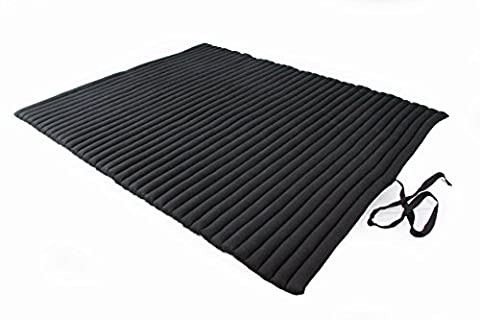 Thaikissen XXL Rollmatte ca. 200 x 150, Thai Kapok Matte, Rollmatte für Massage, als Liegewiese oder zum Spielen, schwarz, Handelsturm Kissen