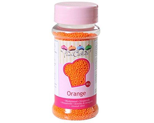 Nonpareils-Set 4tlg.,weiß-gelb-orange-rosa, Zuckerperlen, Zuckerstreusel - 4
