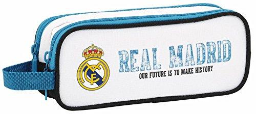 Real Madrid – Estuche portatodo Doble, equipación 2017/2018 (SAFTA 811754513)
