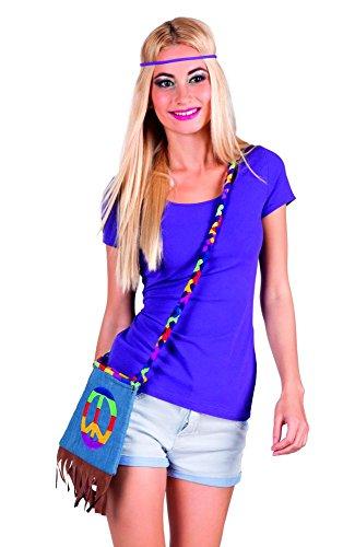 Hippie Handtasche 70er Jahre Flower Power Tasche Peace