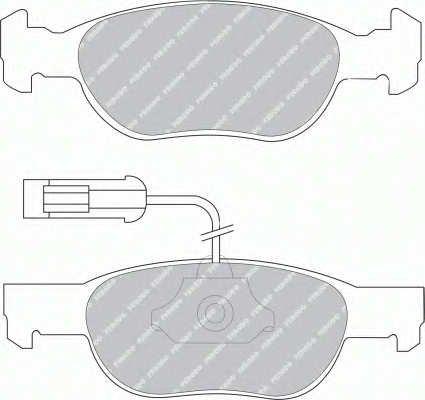 confezione 4 pezzi Premier Kit Pastiglie Freno Freno A Disco - Ferodo FDB1641
