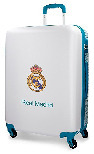 Real Madrid Rm Leyenda Maleta, 69 cm, 75 Litros, Blanco