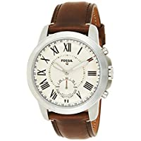 Fossil Mens Quartz Watch, Analog Display and Leather Strap FTW1118
