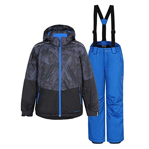 Icepeak Kinder Jungen Skianzug Mehrfarbig, Farbe:Blau;Bitte Größe wählen:176