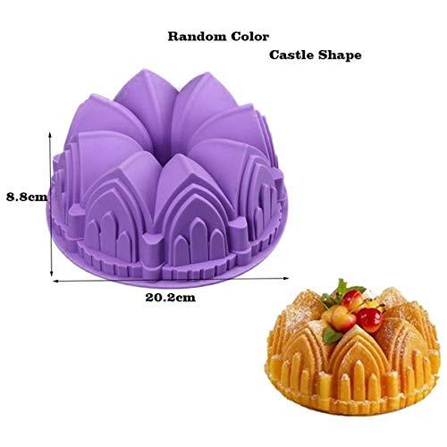 DACCU 25 Formen Silikonform für Backblech Dessert Mousseform Kuchenformen Silikonform für Backform Kuchen Dekorierwerkzeug, Farbe: Burg Zufällige Farbe