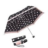 boy  Regenschirm Für Mädchen und Jungen, Taschenschirm Klein Extra Leicht & Kompakt Reise Taschenschirm, 207g, Wellenpunkt Blau
