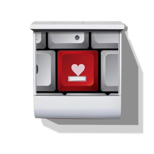 Burg-Wächter Briefkasten mit Zeitungsfach und Namensschild Motiv: Press The Button