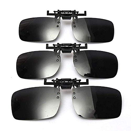 Progoco Sonnenbrille polarisiert Clip auf Flip up, UV Schutz Gläser,Fahren/Fischerei/Sport geeignet für Frauen und Männer