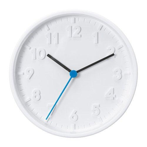 """IKEA Wanduhr """"STOMMA"""" Quarz-Uhrwerk Drchmesser 20 cm in Weiß"""