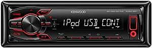 Kenwood KMM-261 Digital Media-Receiver (Apple iPod/iPhone Steuerung, AUX-IN, USB 2.0, roter Tastenbeleuchtung) schwarz