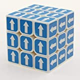 WXXW Pfeil Speed Cube,3x3 Magic Puzzles Cube,Stickerless, Cube De Vitesse Magique Lisse Facile Àtourner Pour Jeu d'Entraînement Cérébral Ou Cadeau Noël Anniversaire Fête,B