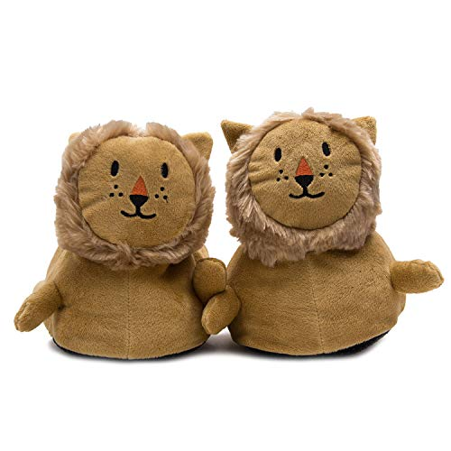 Elephant Brand Plush & Soft Fuzzy 3D Animal Slippers in Lamb, Lion, and Sloth for Kids, Women, and Men of All Ages