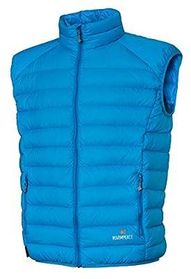 Warmpeace Drake Vest Daunenweste Herren ultraleicht Colibri DWR + ocean blau Gr. L