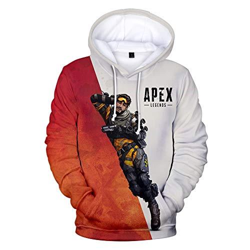 Rabbit sister Männer 3D Print Apex Legends Hoodie Pullover Top Langarm Top Paar Pullover Sweatshirt mit Vordertasche Cosplay (Top Paar Kostüm)