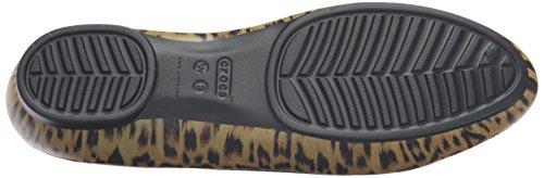 crocs Damen Linagraphicflat Geschlossene Ballerinas Mehrfarbig (Leopard)