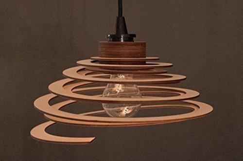 Lampenschirm 'Spirale' - DIY Lampe/Holzlampe/Pendelleuchte/Hängelampe -