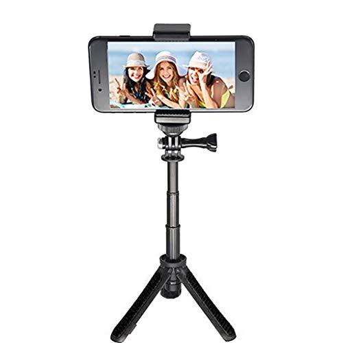 MuSheng GearPro für Osmo Action Extension Schraube Stabilisator-Konverter für DJI Osmo Action Hand-Gimbal-Kamera Handheld Mini Stativhalterung Selfie Stick ausziehbares Einbeinstativ Kamera (Schwarz) Beste Youtube Konverter