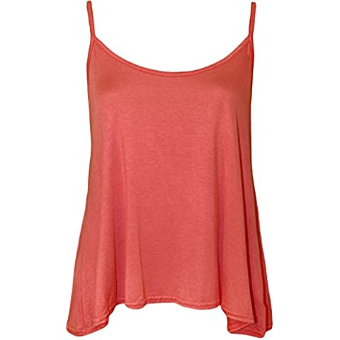 WearAll - Mujeres Sin Mangas Columpio Cami del Chaleco Top
