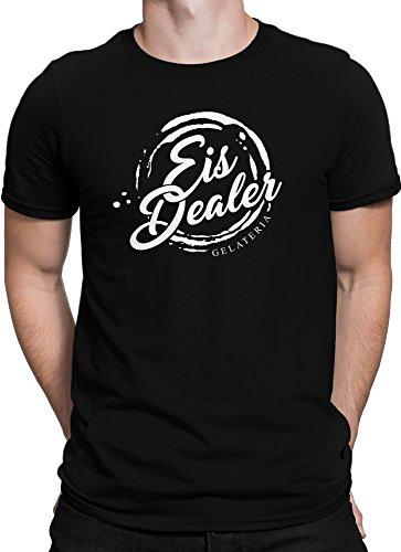 Eis Dealer Gelateria FanShirt Eiscreme / Premium Fun Motiv T-Shirt XS-5XL mit Aufdruck / Ideales Geschenk Schwarz