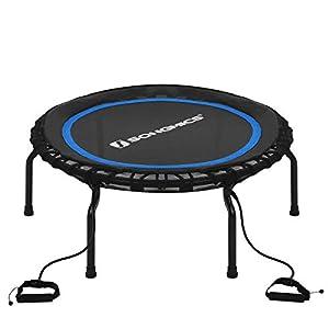 SONGMICS Fitness Trampolin, faltbar, einfache Montage, bis 120 kg belastbar