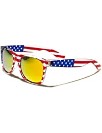 Mens or Womens USA Flag Sunglasses Classic Unisex Glasses With UV400 Potection