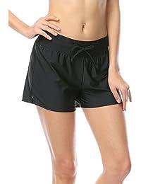 OUO Damen UV Schutz Wassersport Schwimmen Bikinihose Badeshorts Schwimmshorts Boardshorts