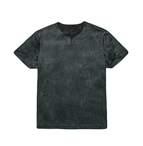 Männer Sommer Lose Kurzhülse Bequem Und Komfortabel Große Yards Modisch Kurzarm-T-Shirt Green