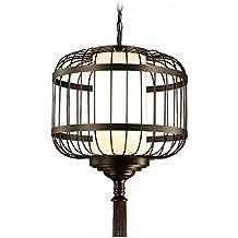 La nueva personalidad minimalista moderna china de hierro forjado jaula de pájaro comedor de la lámpara de la lámpara pasillo balcón para Cafetería