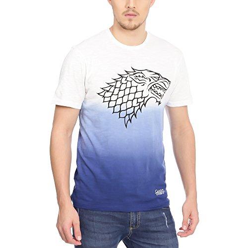 Game of Thrones Men\'s Printed Regular Fit T-Shirt (GT0FMT86_white_M)