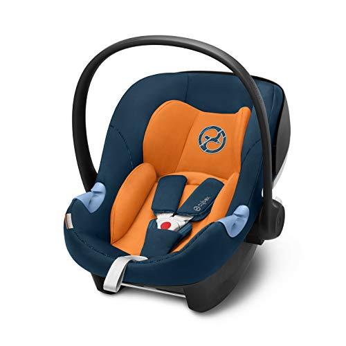 CYBEX Gold Babyschale Aton M i-Size, Inkl. Neugeboreneneinlage, Für Kinder ab 45 cm bis 87 cm, Max. 13 kg, Tropical Blue