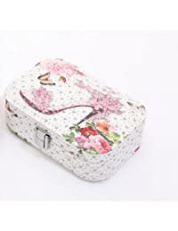 DESIGNEEZ 1PCS Fashion Women Jewelry Storage Box Earrings Necklace Storage Container Holder Casket Box Organizer... - B078M6MXT8