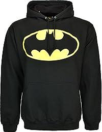 Sweat à capuche à manches longues Batman Noir Pull à capuche