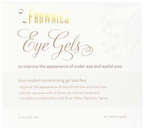 Frownies, gels pour les yeux sous l'œil et la paupière traitement, 3 Sets réutilisables