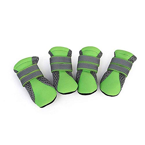 12d8a57b131a0 EUYOUZI Breathable Dog Boots, Anti-Slip Mesh Shoes, Vibrant Fellow Paw  Protector Dog Boots with Reflective Strap and Rugged Wear-Resisting Sole,  Pet ...