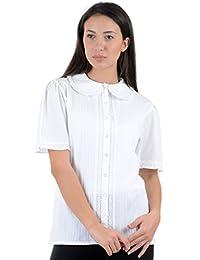 Cotton Lane - Camisas - camisa - Manga corta - para mujer blanco blanco 62