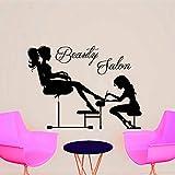 Beauty Salon Manicure Estetista Manicuring Girl'S Toenail Wall Sticker PVC rimovibile Home Decor moda 44x49cm