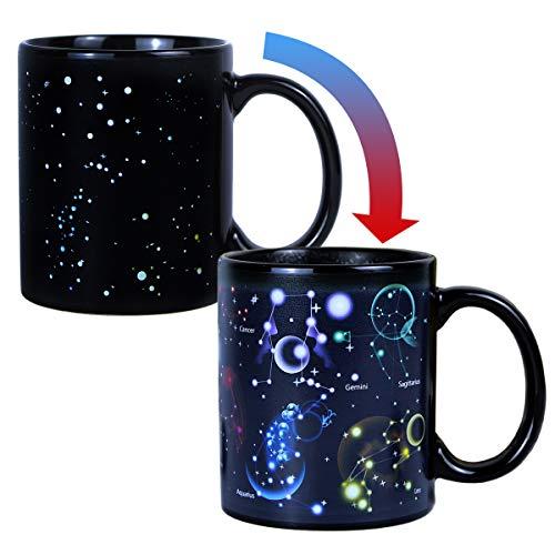 Morning Porcelain Novità Oz Constellation Unico Heat Magic Sensitive Color 12 Tea Mug Ideale Changing Cup Coffee Regalo wOXiZlkuPT