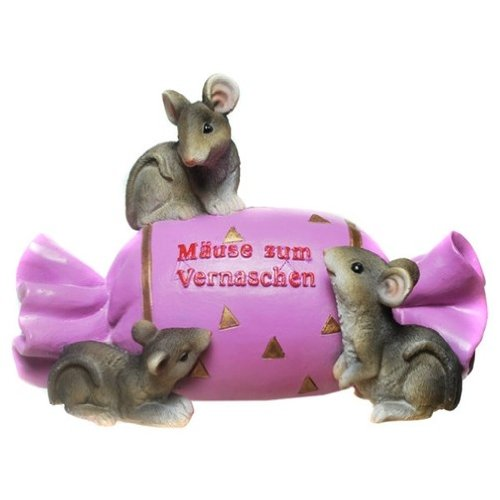 Bonbon Spardose Mäuse zum Vernaschen mit Schloß