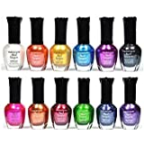Kleancolor Nail Polish - Awesome Metallic Full Size Lacquer Lot of 12-pc
